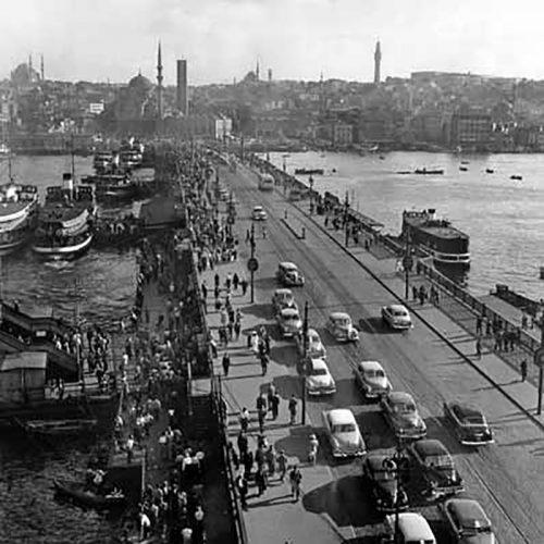 Galata Brücke, Istanbul 1955